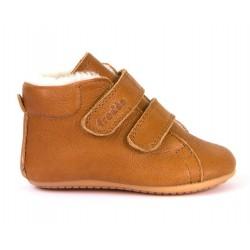 Boots fourrées Prewalkers cognac