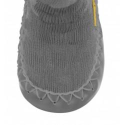 chaussons chaussettes Moccis gris