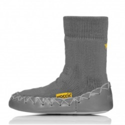 chaussons chaussettes Moccis gris