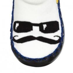 Chaussons Chaussettes Moustache Chanceux