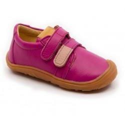Chaussures souples cuir fuchsia scratch rose