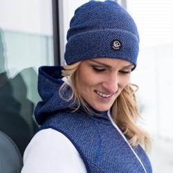 Bonnet laine Mérinos bleu foncé