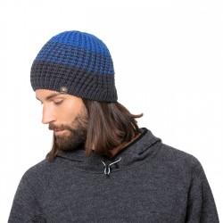 Bonnet laine Mérinos Riepenwand bleu