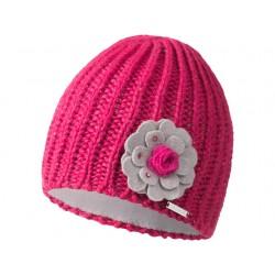 Bonnet laine Iburg rose à fleur