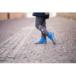 Kids barefoot winter Penguin Blue