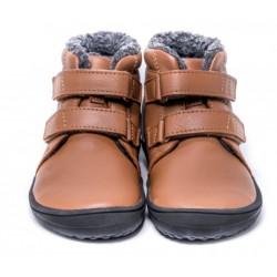 Kids barefoot winter Penguin chocolat