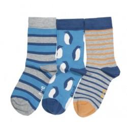 Lot 3 paires chaussettes coton bio Penguin