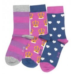 Lot 3 paires chaussettes coton bio Princesse
