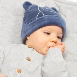 Bonnet coton bio Pingouin velours