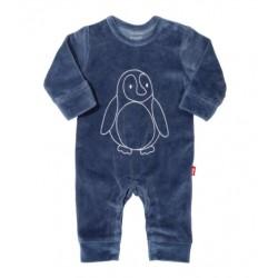 Barboteuse coton bio velours Pingouin