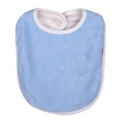 Bavoir coton bio Bleu