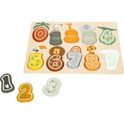 Puzzle bois chiffres Safari