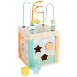 Cube de motricité bois Pastel
