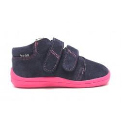 Boots fourrées marine rose