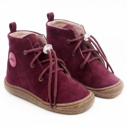 Bottines cuir souples Beetle Merlot