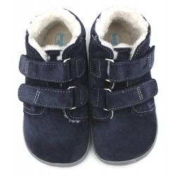 Boots fourrées marine gris