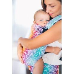 Porte bébé ergonomique en coton bio Mandala bleu