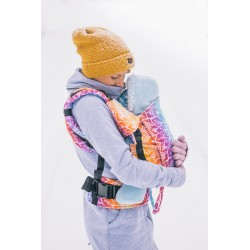 Porte bébé ergonomique en coton bio Mandala Night