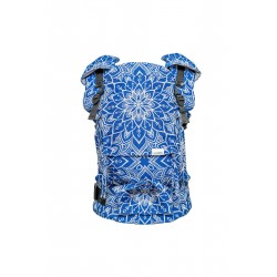 Porte bébé ergonomique en coton bio Mandala Bleu Royal