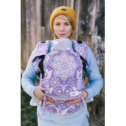 Porte bébé ergonomique en coton bio Folk Purple
