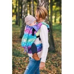 Porte bébé ergonomique en coton bio Spiderweb Galaxy