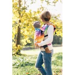 Porte bébé ergonomique en coton bio Spiderweb Sunrise