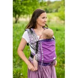 Porte bébé en coton bio Shri Yantra Violet version été