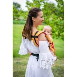 Porte bébé en coton bio Shri Yantra Lila version été