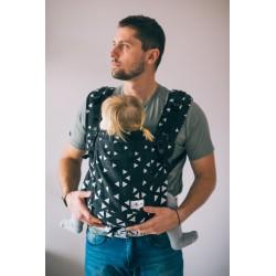 Porte bébé ergonomique en coton bio Triangle Black