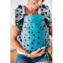 Porte bébé ergonomique en coton bio Triangle Sapphire
