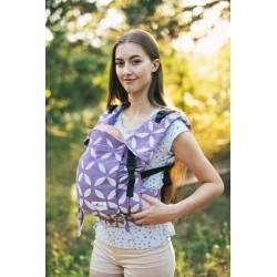 Porte bébé ergonomique en coton bio Classic Purple