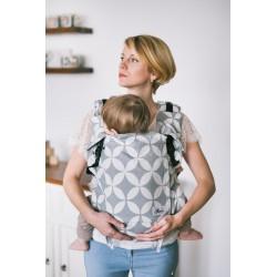 Porte bébé ergonomique en coton bio Classic Grey Diamond