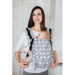 Porte bébé ergonomique en coton bio Classic Grey