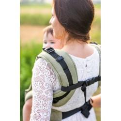 Porte bébé ergonomique en coton bio Green
