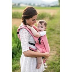 Porte bébé ergonomique en coton bio Pink