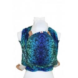 Echarpe de portage en coton bio Mandala Aurora