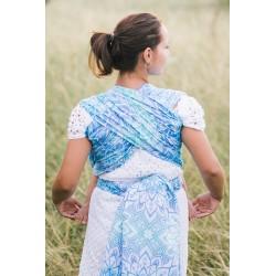 Echarpe de portage en coton bio Mandala Bleu