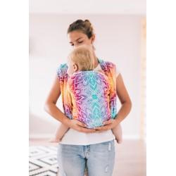 Echarpe de portage en coton bio Mandala Rainbow