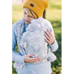 Echarpe de portage en coton bio Folk Grey