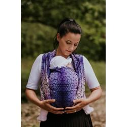 Echarpe de Portage en coton bio Shri Yantra Purple