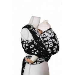 Echarpe de Portage en coton bio Triangle Black / White