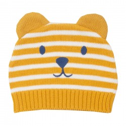 Bonnet coton bio Ourson Moutarde