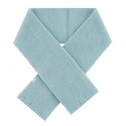 Echarpe douce laine Merinos Bleu Givré