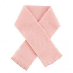 Echarpe polaire de laine douce Rose Poudré