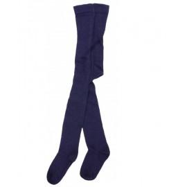 Collants coton bio Bleu Marine