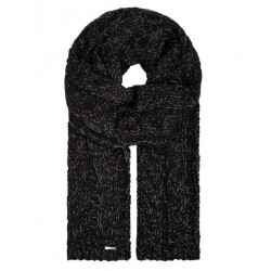 Echarpe laine Mérinos Buralpkopf Noir