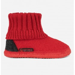 Chaussons laine Kramsach Rouge