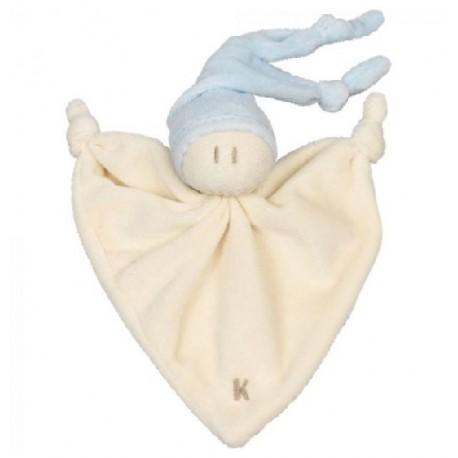 Doudou coton bio Little Zmooz Bleu