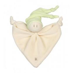 Doudou coton bio Little Zmooz Vert