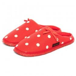 Pantoufles coton bio Rouges